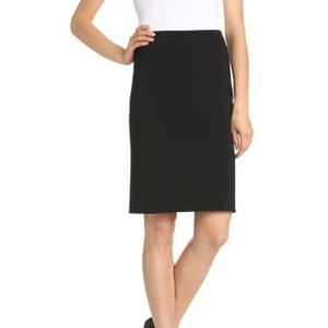 THEORY Basic Black Pencil Skirt Size 0